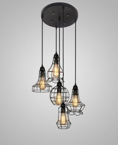 barn metal chandelier