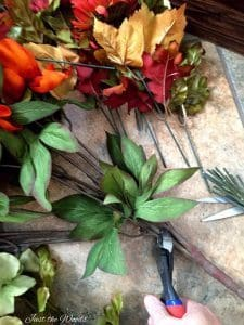 Trim thick floral stems with wire cutters