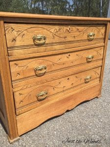 Cottage Style Painted Dresser Set Makeover Of Antique Eastlake Furniture