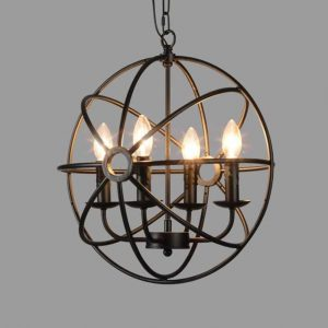 industrial vintage globe light