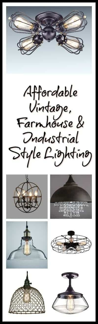 Vintage, Farmhouse & Industrial Style Lighting