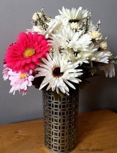 DIY Floral Vase with Decorative Tin