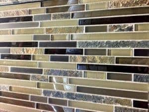 Mosaic glass, tile back splash