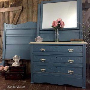 cottage style, shabby chic, painted dresser, vintage dresser, eastlake