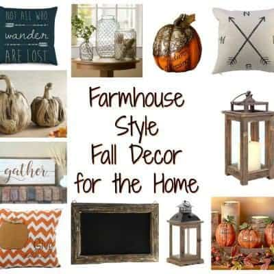 Farmhouse Style Fall Decor for the Home