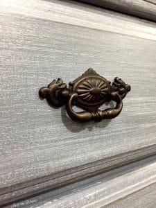 painted hardware, black bronze hardware, vintage hardware, painted drawer pulls