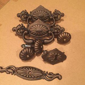 vintage hardware, painted hardware, bronze, oil rubbed bronze painted hardware
