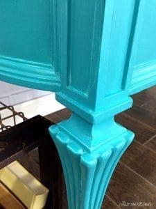 layering chalk paint, turquoise desk, blue desk, painted desk, vintage desk