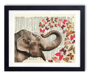 elephant-vintage-print