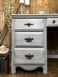 vintage desk, painted desk, staten island, chalk paint