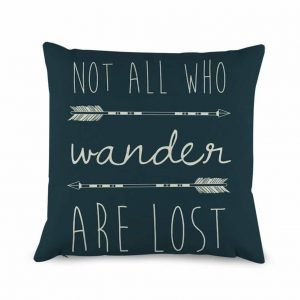 Not all who wander pillow