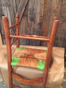 painted chair, painted chair with rush seat, vintage chair, painted furniture, ideas for painting a ladder back chair