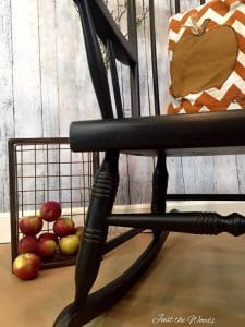 vintage rocking chair, how to paint furniture, painted furniture