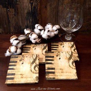 stone coasters with decoupaged napkin