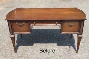 vintage desk, unfinished desk, wood desk, staten island, nyc