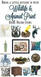 Bring a little outside in with Wildlife & Animal Print Home Decor
