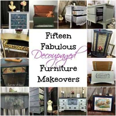 Fabulous Decoupaged Furniture Makeovers
