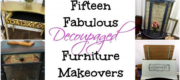 Fifteen Fabulous Decoupaged Furniture Makeovers