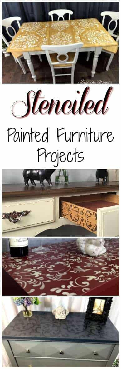 Stenciled Painted Furniture Makeovers by Just the Woods