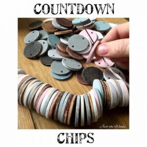 Countdown Chain with Wooden Chips by Just the Woods