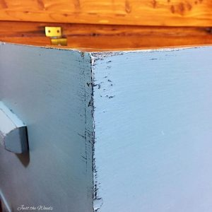 layered chalk paint, distressed chalk paint, blue chalk paint