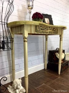 Glam Desk with Stripes