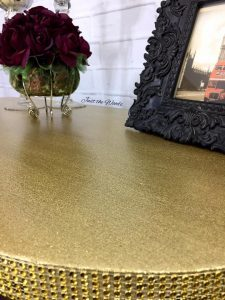 glitter glam furniture, metallic desk, metallic furniture