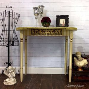 Glitter Gold Desk with Stripes