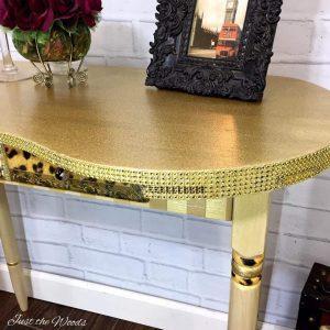 Gold Glitter on Furniture