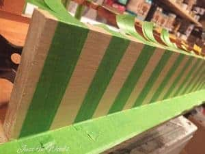 add stripes to furniture, painted furniture, stripes, painted stripes