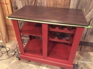 Kitchen Island Painted Red, painted kitchen island, chalk paint, non toxic, pure home paint