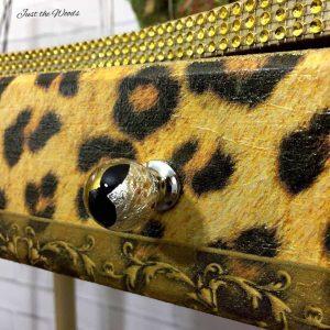 leopard print, decoupage, glitter desk, gold vanity, staten island, nyc, nj