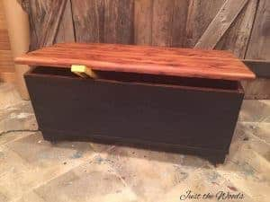 painted-black, black chalk paint, derby,