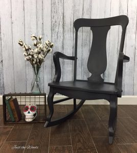Painted Graphite Furniture, charcoal furniture, painted rocking chair