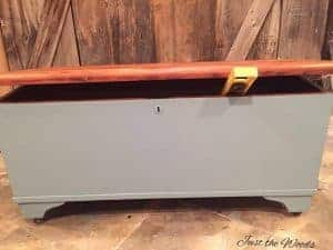 painted-gray, chalk paint, painted chest, storage chest, painted furniture