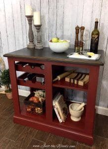 Painted Kitchen Island, red kitchen island, kitchen island for sale, farmhouse, rustic