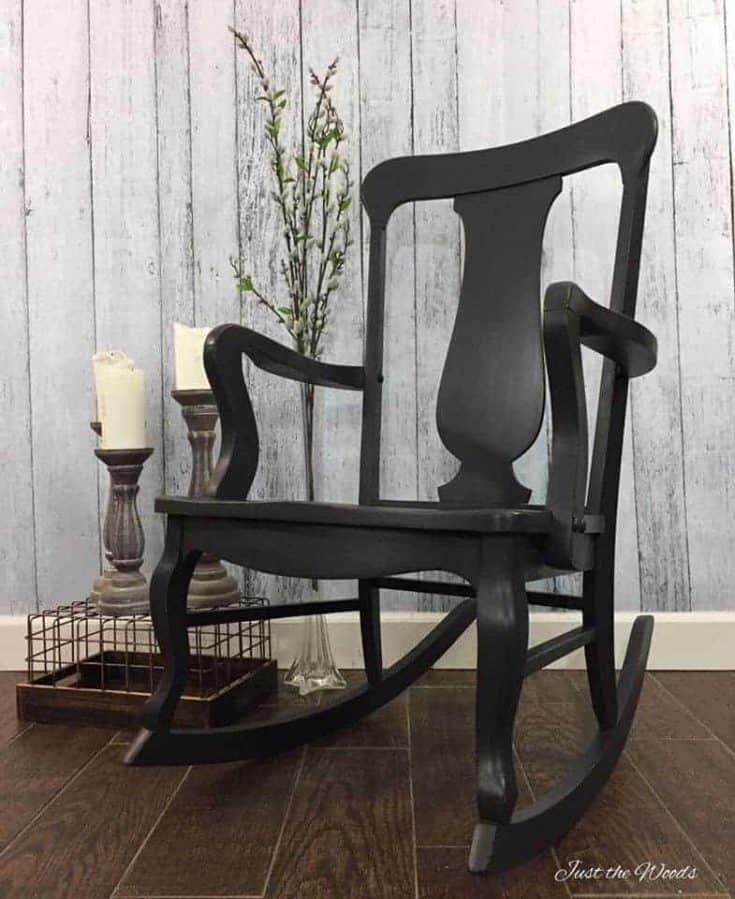 Charcoal Painted Rocking Chair