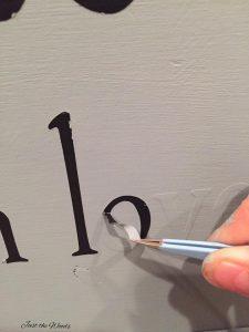 peel-away-vinyl-letters, reverse stencil, how to reverse stencil