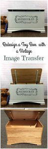 Painted Toy Box with Image Transfer