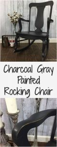 Charcoal Gray Painted Rocking Chair