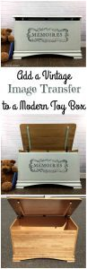 Image Transfer on Painted Toy box