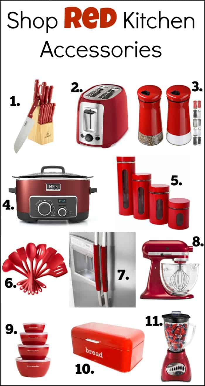 Red Kitchen Accessories Slubne Suknie Info