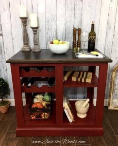 Rustic Painted Kitchen Island