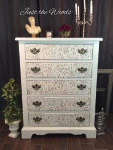 Shabby Meets Chic Stenciled Dresser