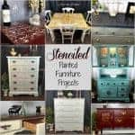 Stenciled Painted Furniture Projects by Just the Woods