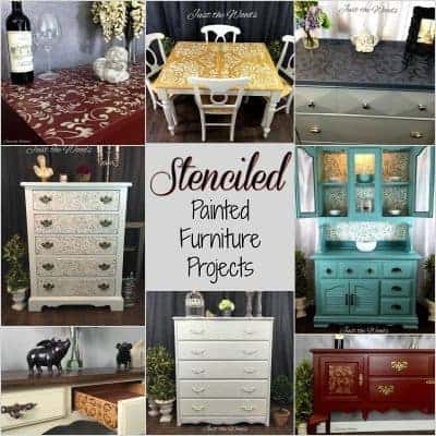 Collection of Stenciled Painted Furniture Projects
