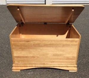 toy box, slow close lid, unfinished toy box