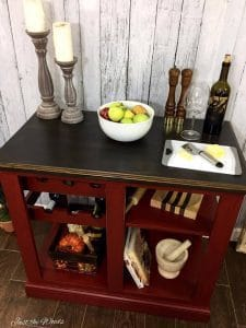 red kitchen island, buy, staten island, wood, wine