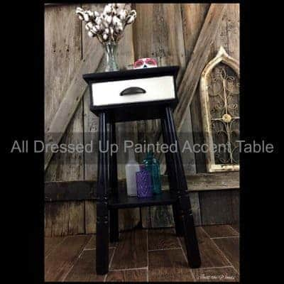 All Dressed Up – Hand Painted Accent Table