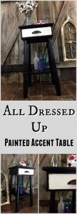 All Dressed Up Painted Accent Table